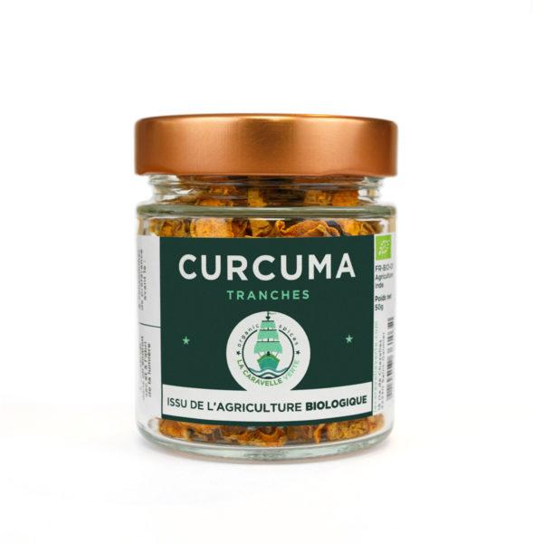 curcuma BIO tranches en bocal