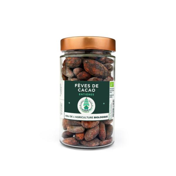 Fèves de cacao entières BIO en bocal verre