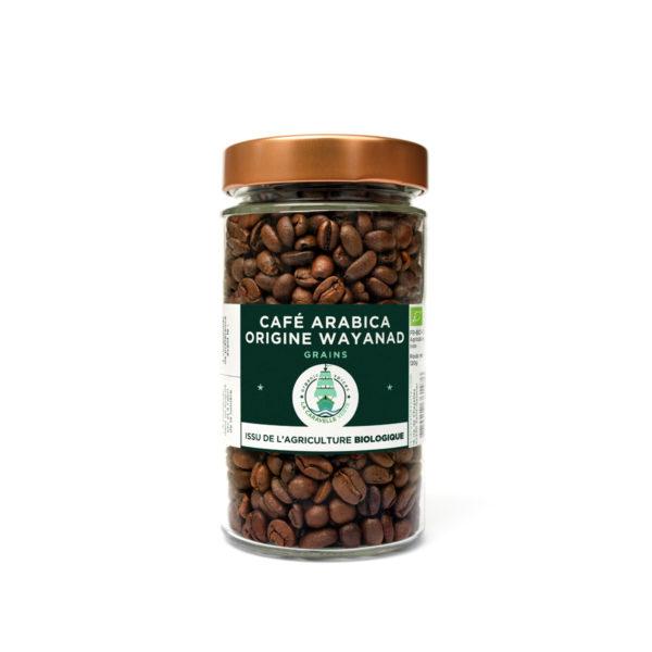 Bocal en verre café arabica origine Wayanad BIO
