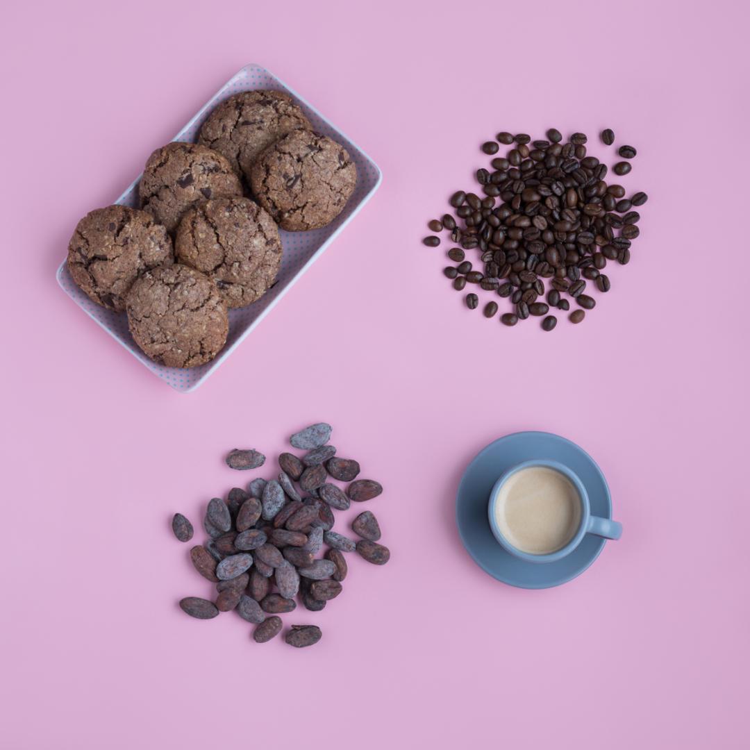 Photo cuisine - Cookies, café, cacao