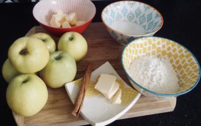 Crumble pommes cannelle